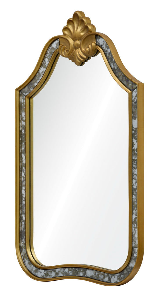Antique mirror and gold leaf