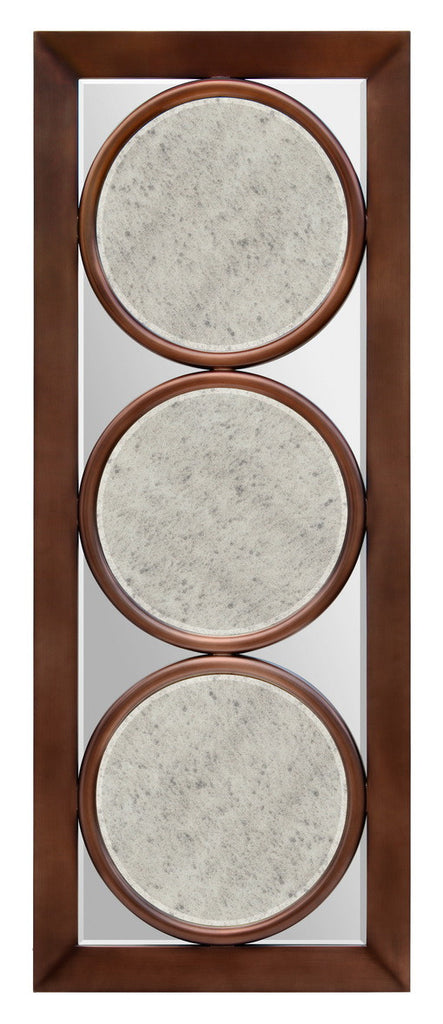 Decorative mirror in a bronze frame