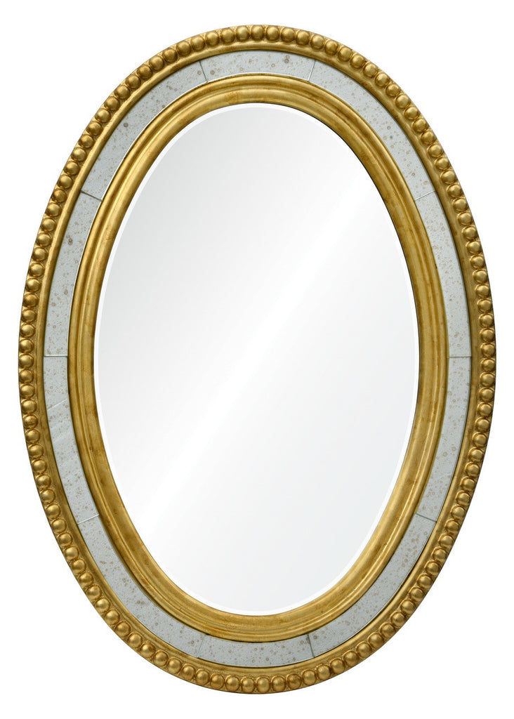 Oval framed mirror online