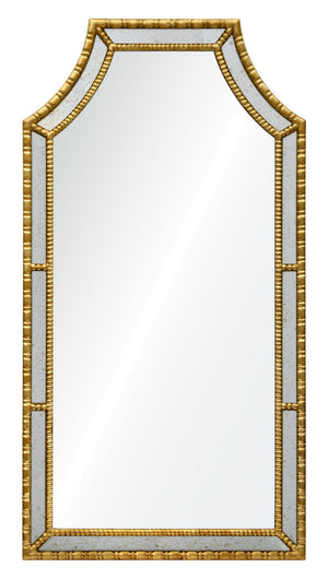 Decorative framed hotel mirror