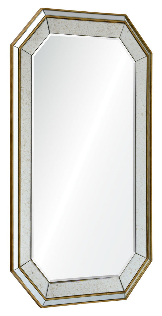Octagonal mirror framed mirror