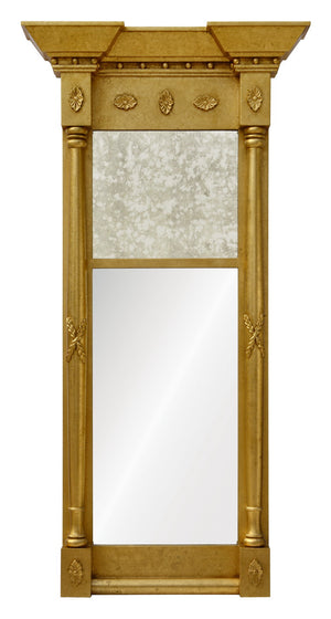 Decorative antique framed mirror