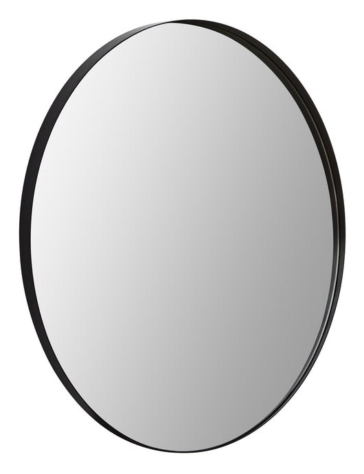 Round mirror with minimalist metal frame