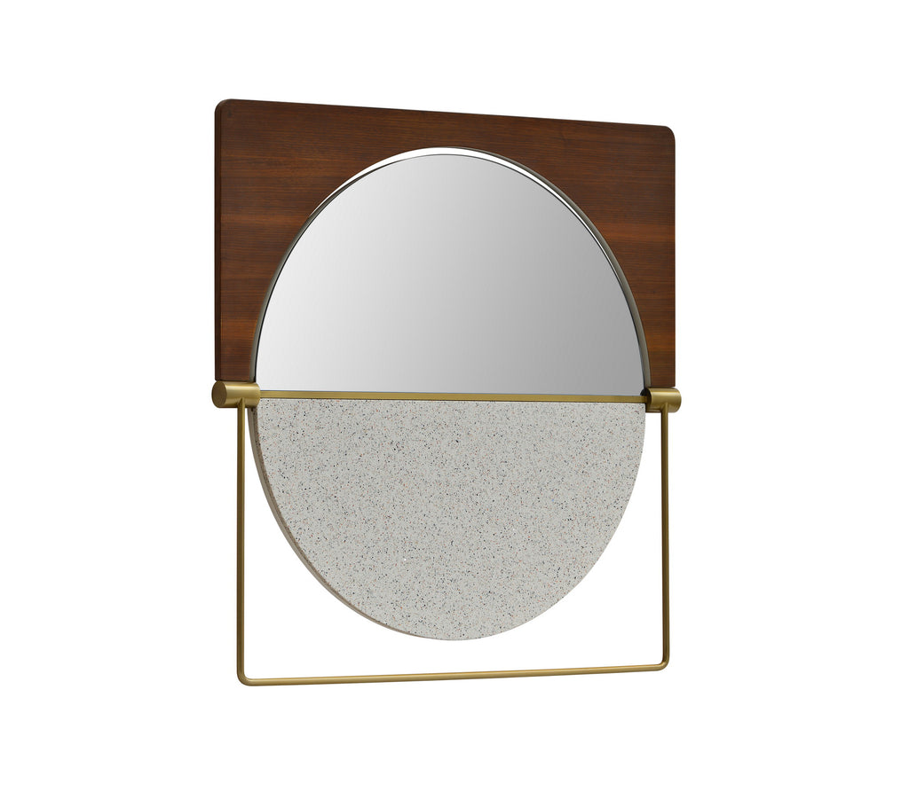 Mirror with marble