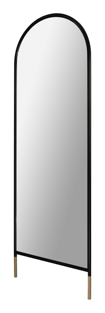 Matte black full length mirror