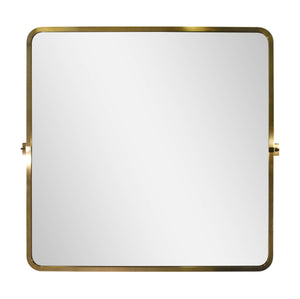 brushed brass frame finish