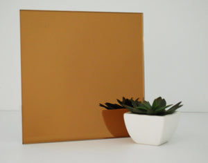 bronze colored mirror