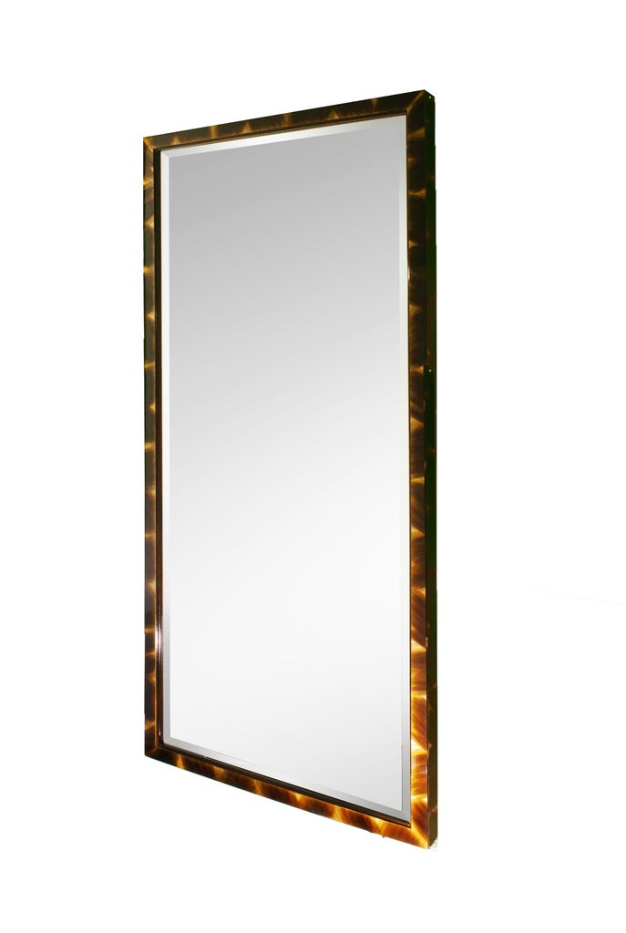 Full length mirror in faux horn