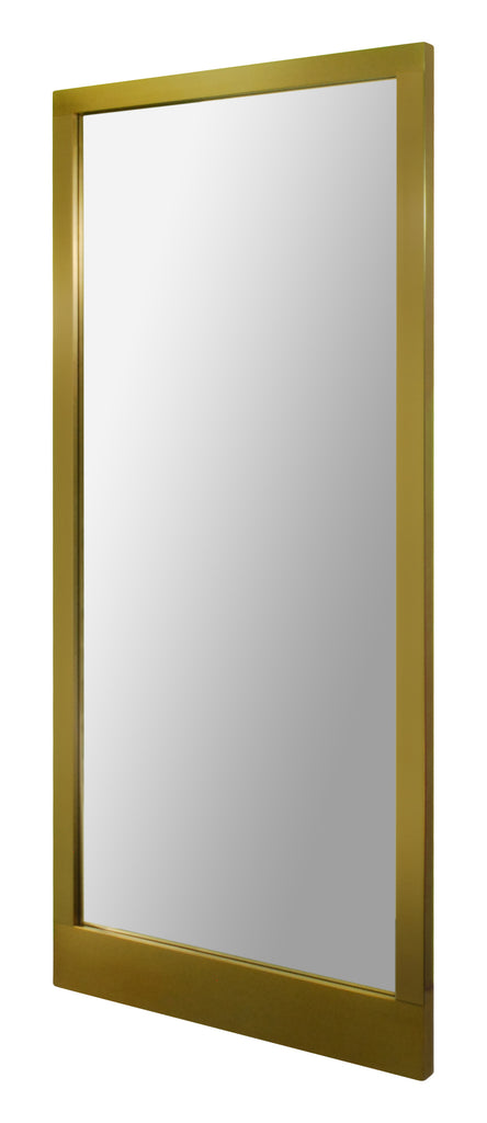 Full length mirror in plated bronze