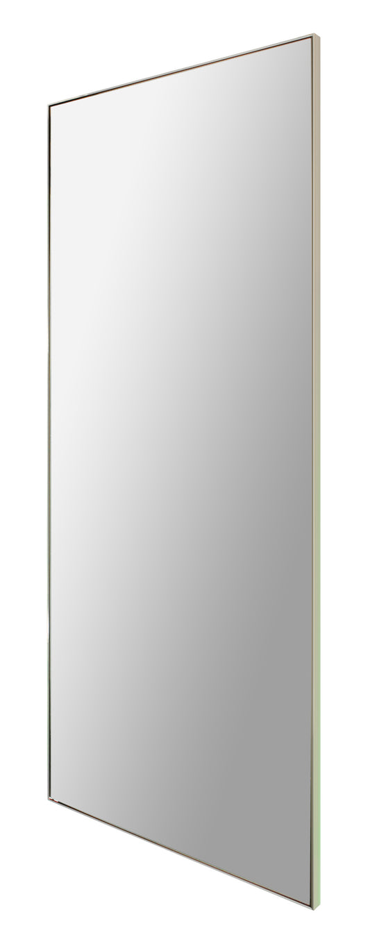 Polished chrome full length mirror
