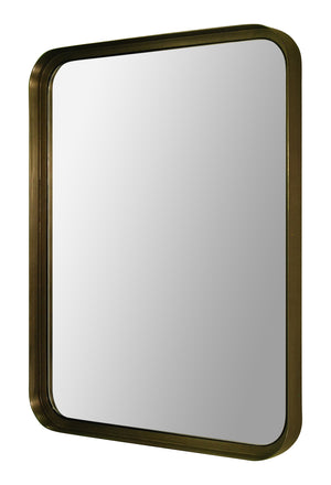 Mirror with curved corners