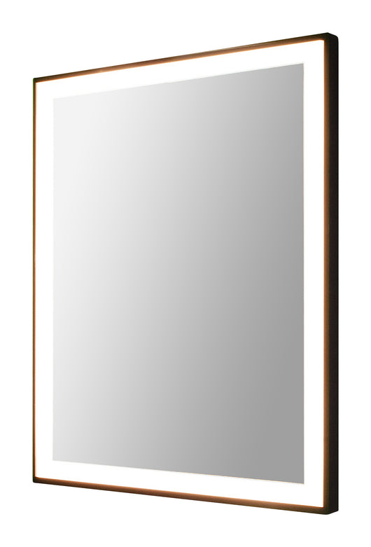 Rectangular backlit LED mirror