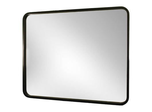 Rectangular shaped mirror with deep radius corners
