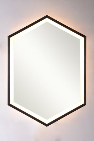 Backlit hexagonal frame