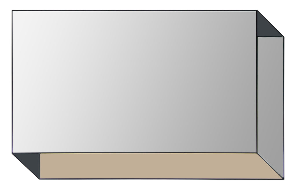 Clear mirror, Quartz colored mirror and Onyx colored mirror