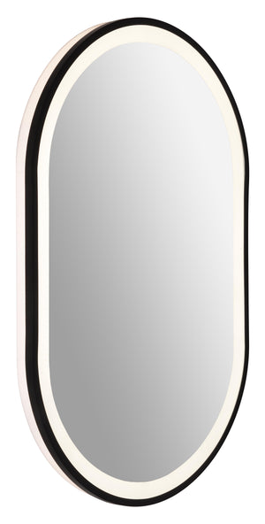 Backlit oval frame