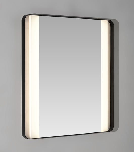 Backlit mirror with LED strips