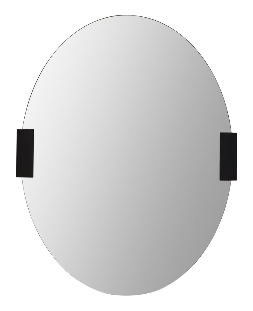 metal accented mirror