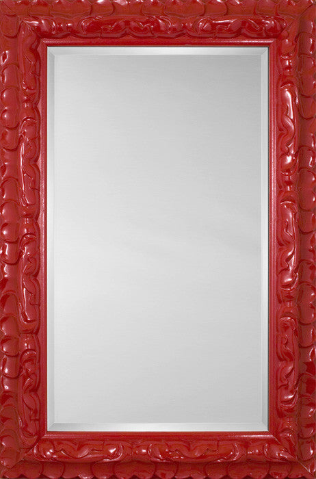 81186 - Glass Red Mirror