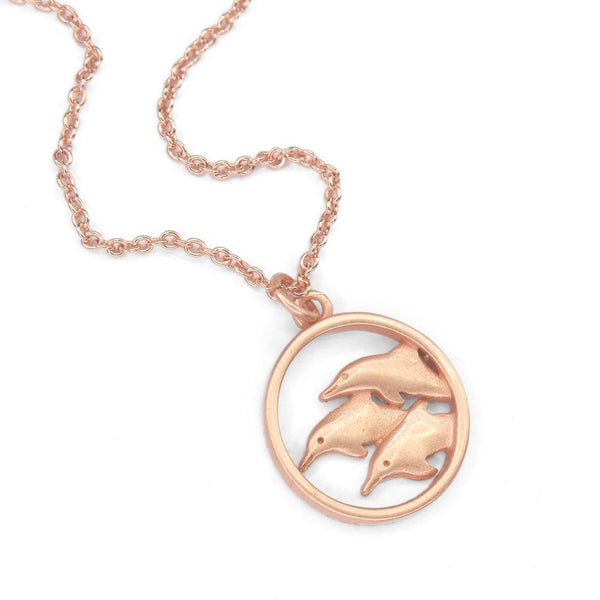 Dolphin Necklace | Rose Gold