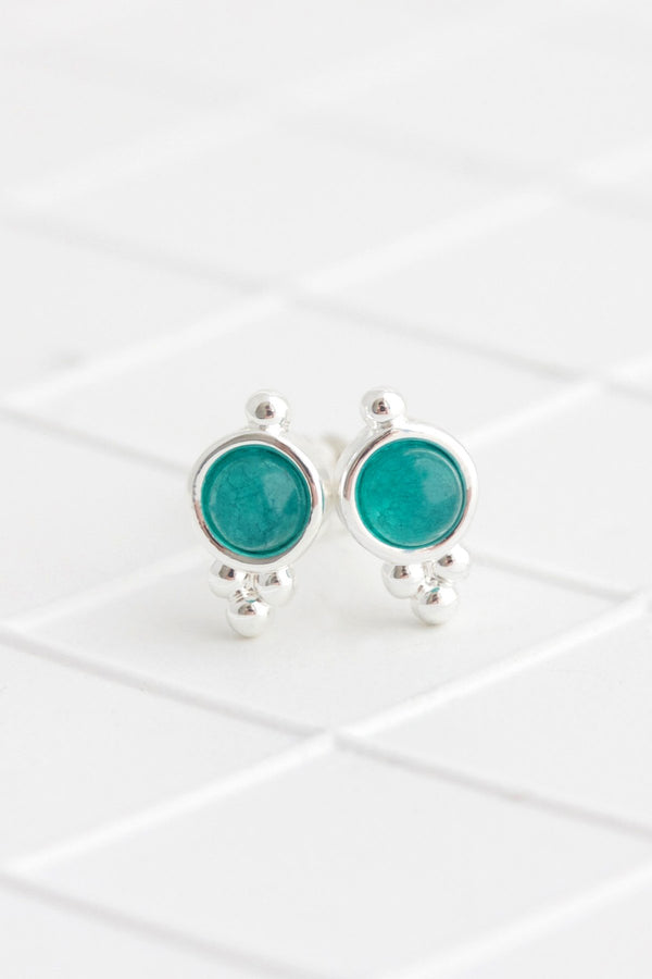 Birthstone Studs | Silver | May