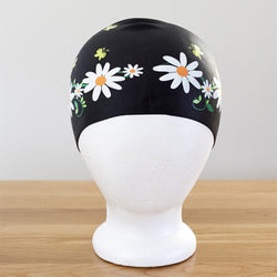 Poolbeanies Swimming Cap - Daisy Chain in Night Garden (Silicone)