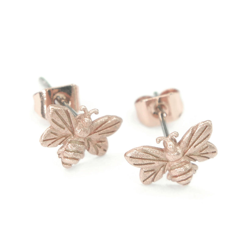 Honey Bee Earrings | Rose Gold