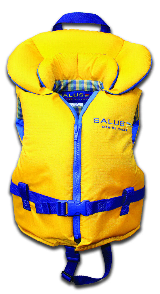 Child Life Vest (14kg-27kg) | Gold - Frogs and Toadstools