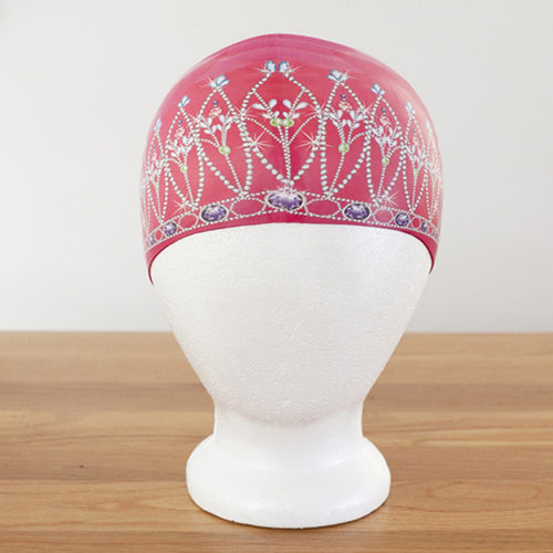 Poolbeanies Swimming Cap - Royal Crown in Princess Pink (Silicone)