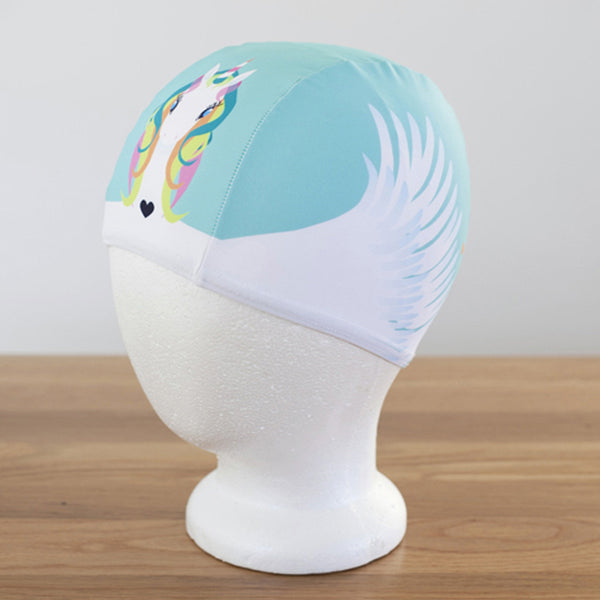 Poolbeanies Swimming Cap - Rainbow Drop (Lycra)