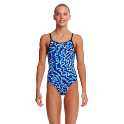 Diamond Back One Piece | Ticker Tape