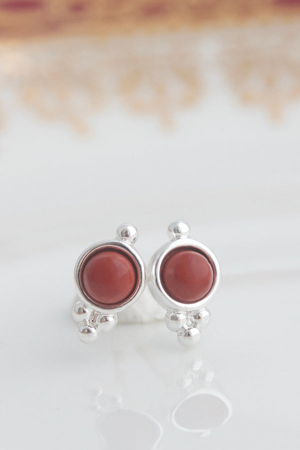 Birthstone Studs | Silver | January