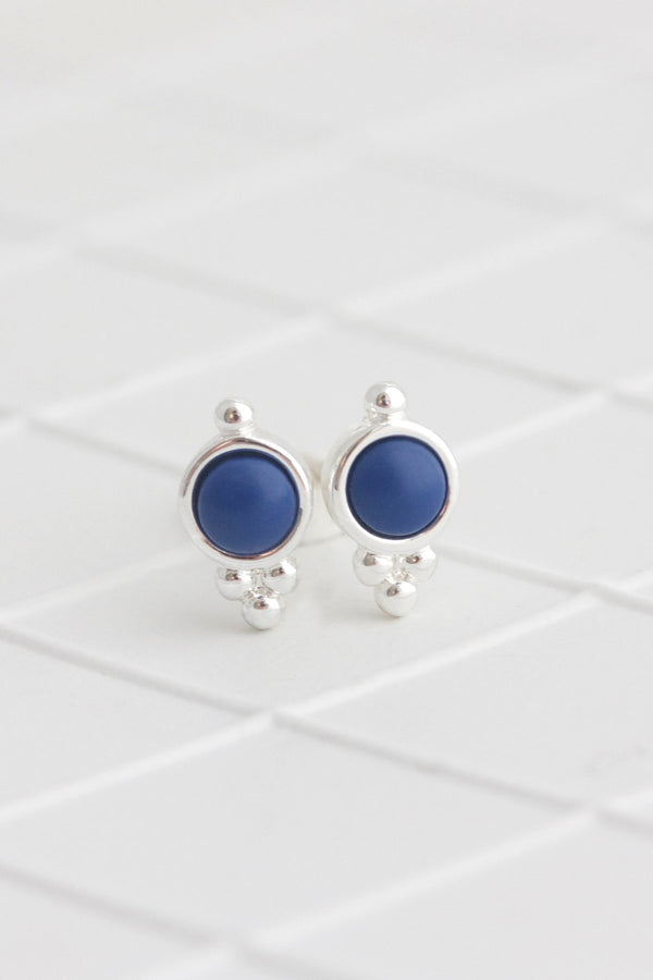 Birthstone Studs | Silver | September