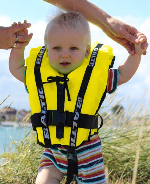 Baltic Bambi Life Jacket | Yellow 3-12kg - Frogs and Toadstools