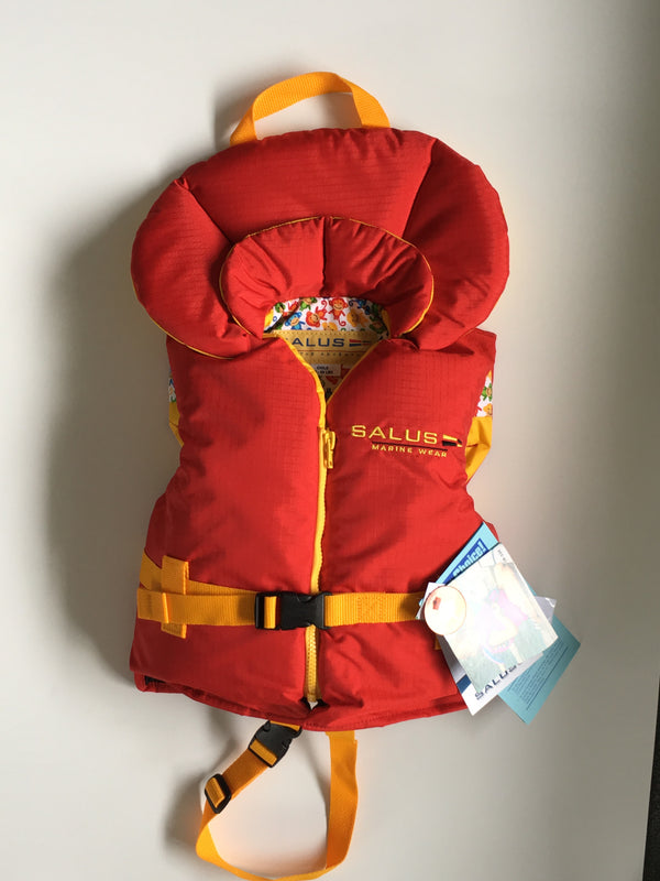 Child Life Vest (14kg-27kg) | Red - Frogs and Toadstools