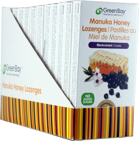 Manuka Honey Lozenge - Blackcurrant 22g (8 lozenges per packet) - 12 packets