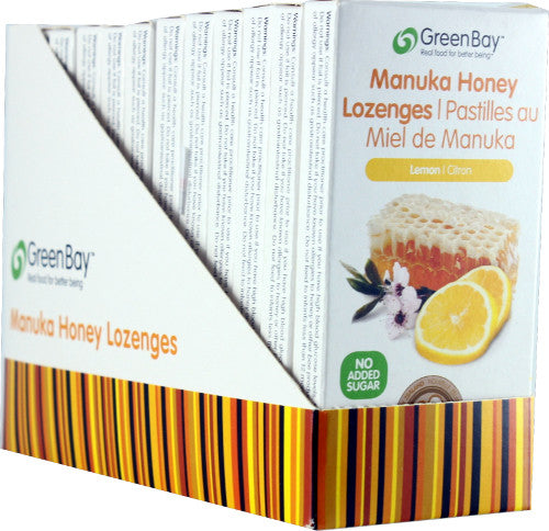 Manuka Honey Lozenge - Lemon 22g (8 lozenges per packet) - 12 packets