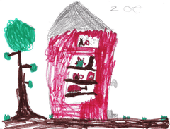 Children's Illustration of The Little Red Shop by Zoe