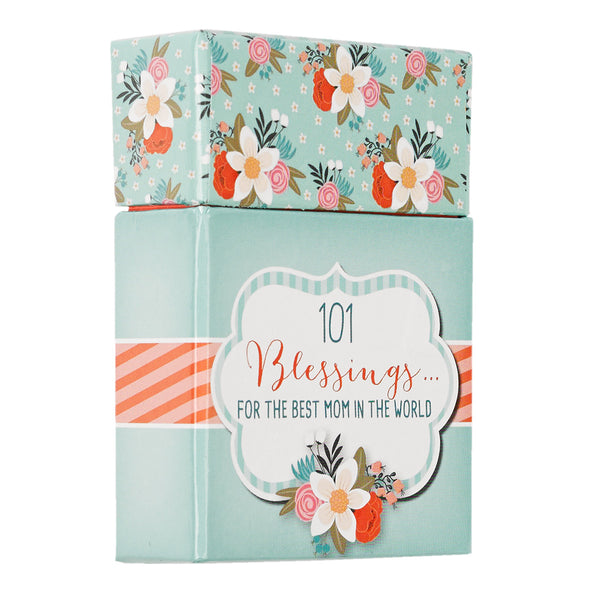 Side View Aqua Floral Blessing Box