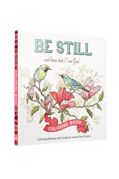 Be Still & Know that I Am God Coloring Book Cover