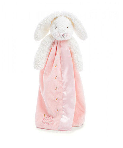 Bunnies by the Bay's Pink Blossom Bunny Buddy Blanket Baby Shower Gift