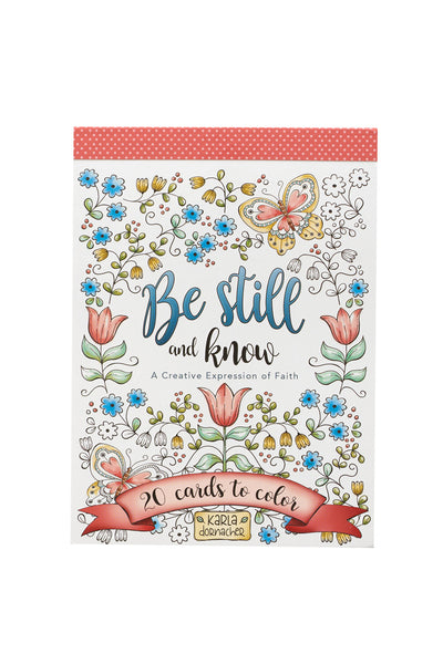 Be Still Floral Coloring Card Cover