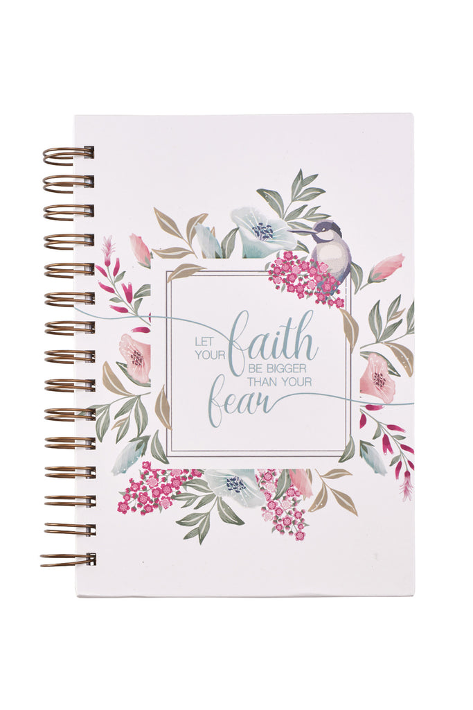 Floral Faith Bigger Than Fear Journal