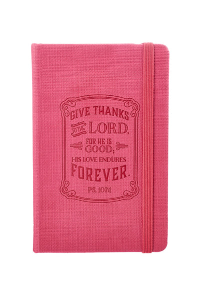 Hot Pink Give Thanks Notebook with Verse