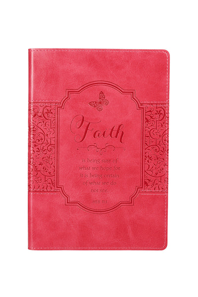 "Hebrews 11:1 Hot Pink ""Faith"" Journal"