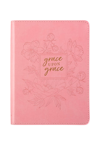 Grace Upon Grace ~ John 1:16 Classic Pink Journal