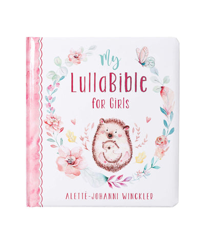 LullaBible front cover with Hedgehogs