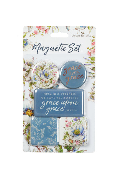 Grace Upon Grace ~ John 1:16 Magnet Set
