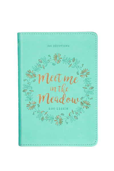 Aqua Floral Devotional Cover