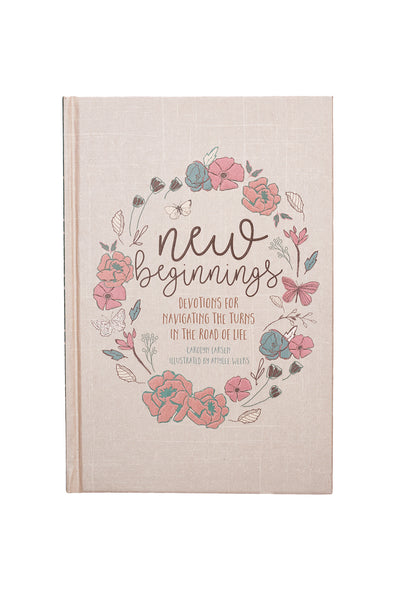 New Beginnings Devotional Floral Cover